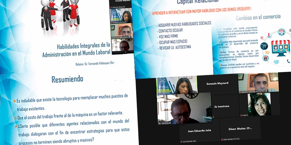 Webinar Habilidades Integrales de la Administración en el Mundo Laboral: Hay que cambiar o sucumbir